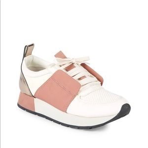DOLCE VITA PINK AND WHITE SNEAKS